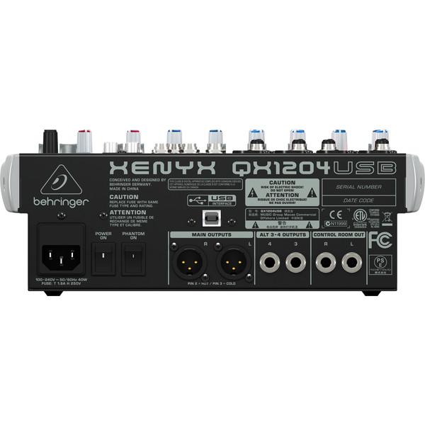 Behringer XENYX QX1204USB USB Mixer - Rear View