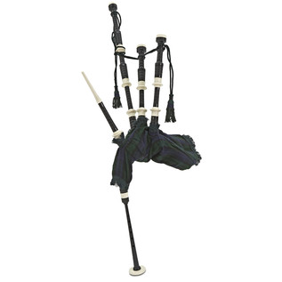 Deluxe Bagpipes by Gear4music, Black Watch