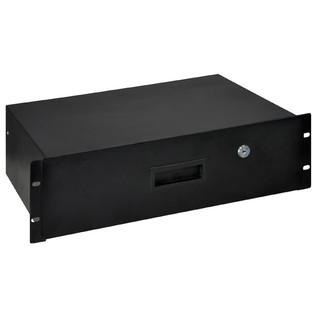 Electrovision Black Powder Coated Lockable Steel Rack Drawer, 3U