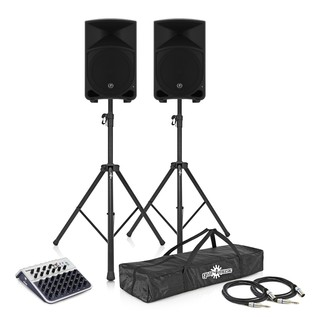 Mackie Thump 12 Complete PA System Bundle with Mixer and Stands