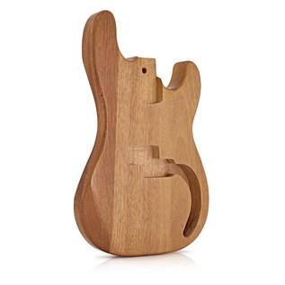 Bass Guitar Body, Natural Mahogany
