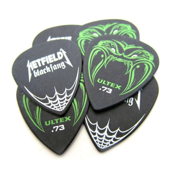 Dunlop Ultex Hetfield/'s Black Fang Picks 6 pcs. Player/'s Pack black 1.14 mm