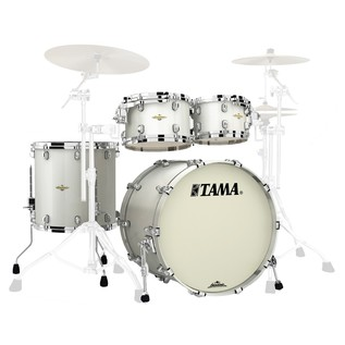 Tama Starclassic Maple 22'' 4 Pc Shell Pack, Satin Pearl White