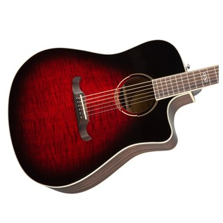Fender T-Bucket 300CE Electro Acoustic Guitar, Trans Cherry Burst
