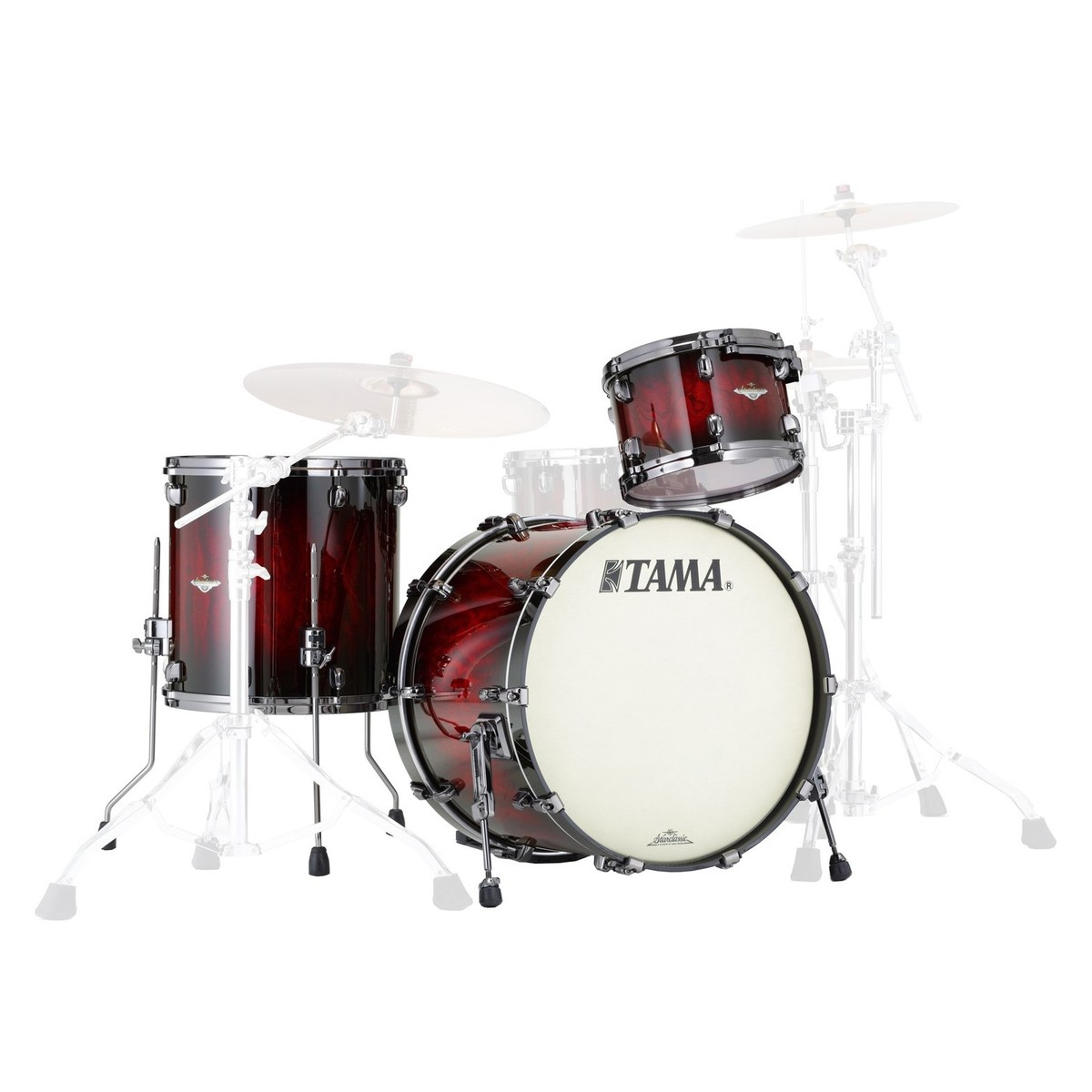 tama starclassic bubinga 22 39 39 3pc shell pack garnet quilted bubinga at gear4music. Black Bedroom Furniture Sets. Home Design Ideas