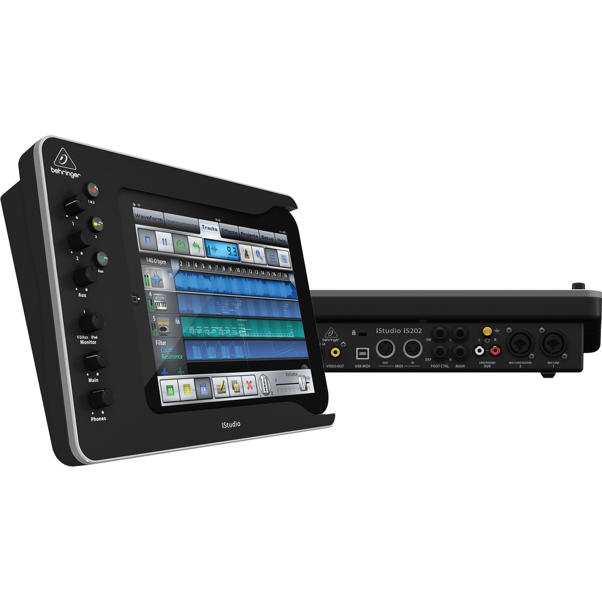 Behringer istudio is202 ipad dock table de mixage b - Table de mixage professionnelle studio ...