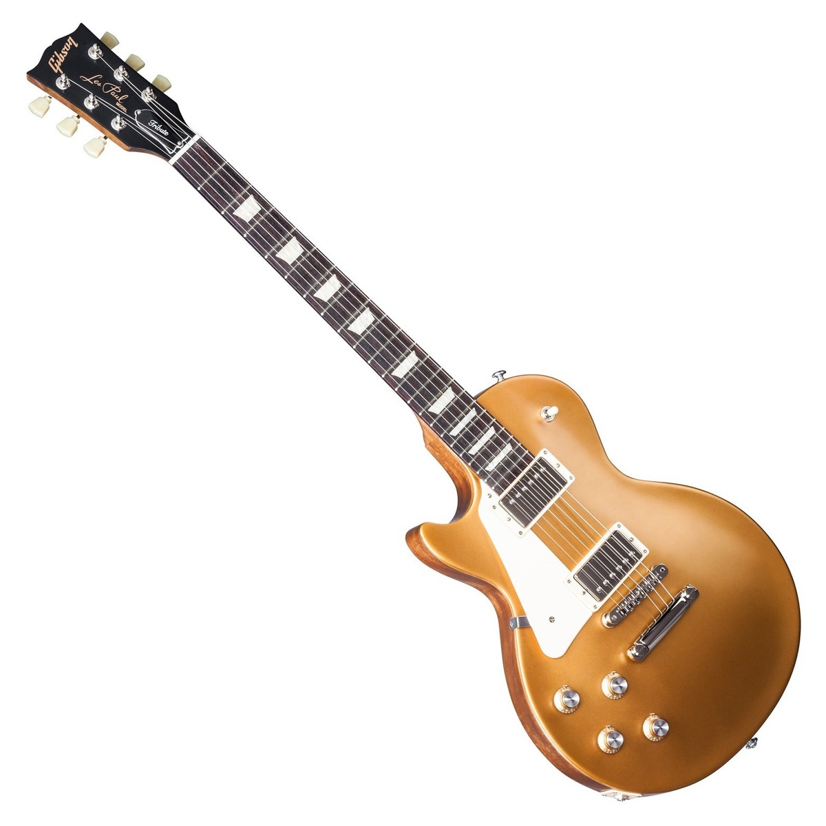 gibson les paul tribute t left handed guitar satin gold top 2017 at gear4music. Black Bedroom Furniture Sets. Home Design Ideas