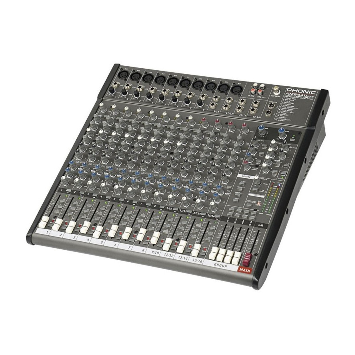 Phonic am844d table de mixage usb gear4music - Table de mixage yamaha usb ...
