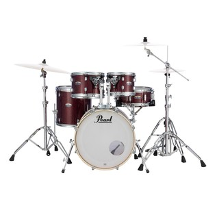 Pearl Decade Maple 20'' Fusion W/ Hardware Pack, Crimson Galaxy Flake