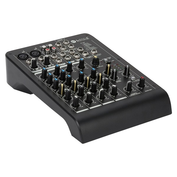 RCF Audio LPAD6X 6 Channel Analog Mixer, Front Angled Left