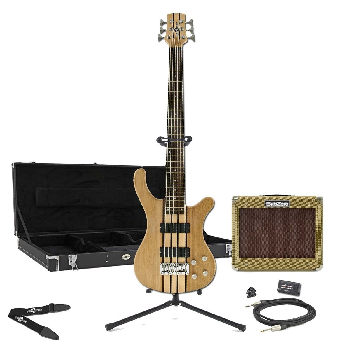 oregon 6 string bass subzero v35b amp pack natural at gear4music. Black Bedroom Furniture Sets. Home Design Ideas