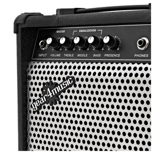 Santa Monica Bass Guitar + 15W Amp Pack, Black