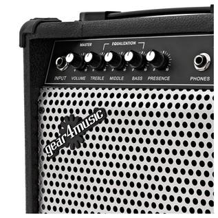 Santa Monica Bass Guitar + 15W Amp Pack, Black