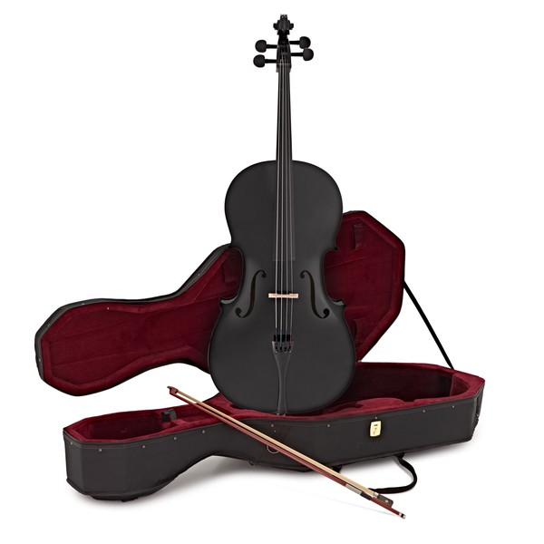 Student 4/4 Size Cello with Case by Gear4music, Black
