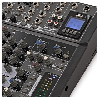 Phonic AM1204FX USBR Analog Mixer DFX with USB Interface & Recorder