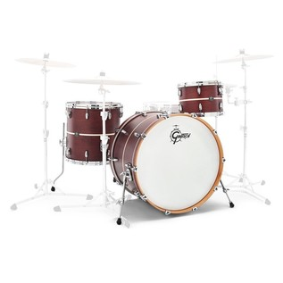 Gretsch Renown Maple 22'' 3 Pc Euro Shell Pack, Walnut w/ Pearl Inlay