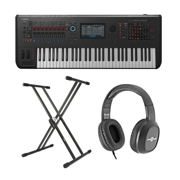 Yamaha MONTAGE 6 with Headphones and Stand - Main