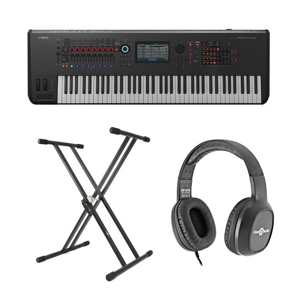 Yamaha MONTAGE 7 with Headphones and Stand - Bundle