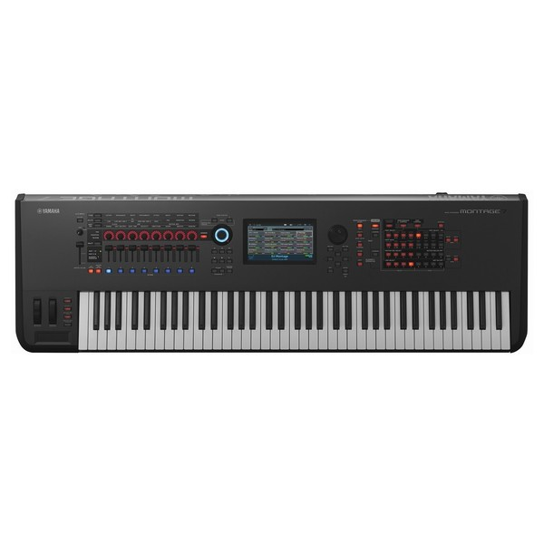 Yamaha MONTAGE 7 with Headphones and Stand - Keyboard Top