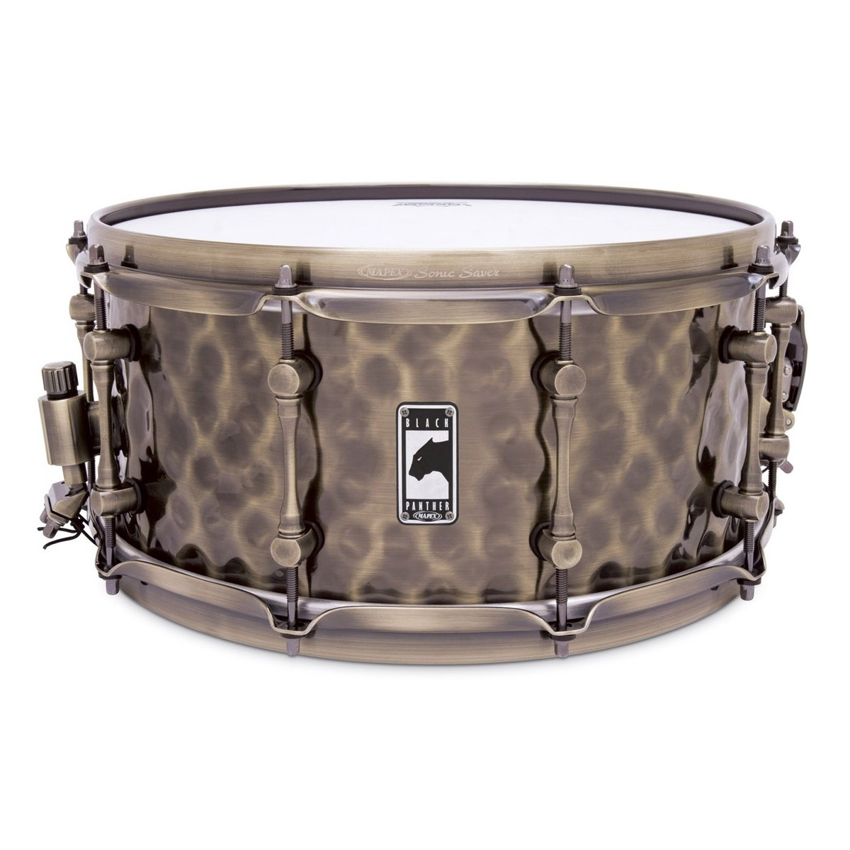 Mapex Black Panther \'The Sledge Hammer\' 14x6.5 Hammered Brass Snare ...