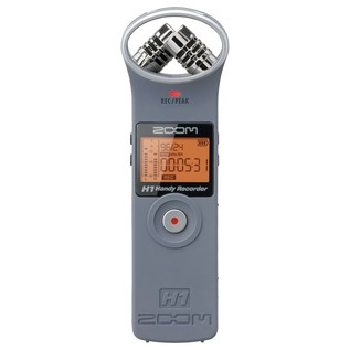 Zoom H1 Recorder, Matte Grey - Front
