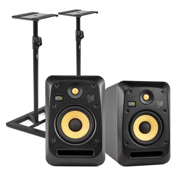 KRK V6S4 Studio Monitor with Stands, Pair
