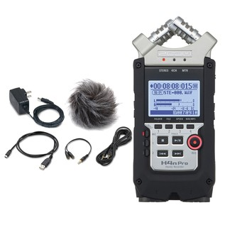 Zoom H4N Pro Handy Recorder with Accessory Pack - Bundle