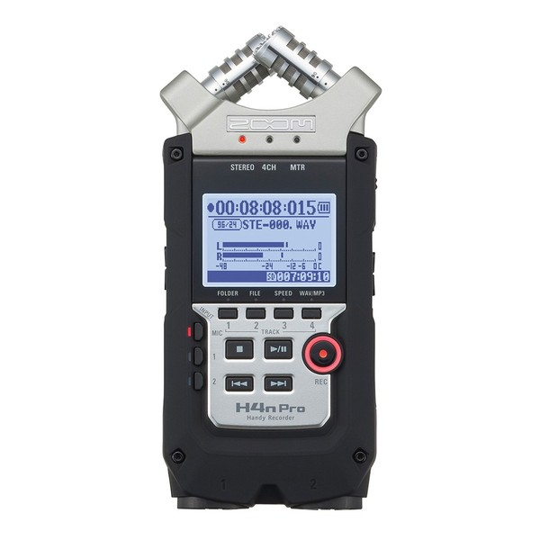 Zoom H4N Pro Handy Recorder with Accessory Pack - Front