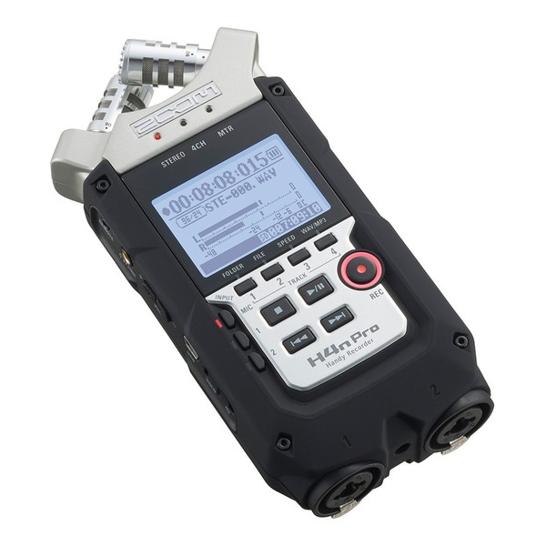 Zoom H4N Pro Handy Recorder with Accessory Pack - Angled Flat