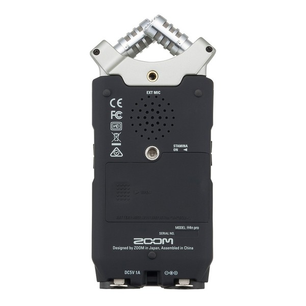 Zoom H4N Pro Handy Recorder with Accessory Pack - Rear