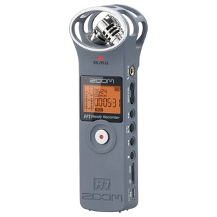 Zoom H1 Recorder, Matte Grey - Front Angled