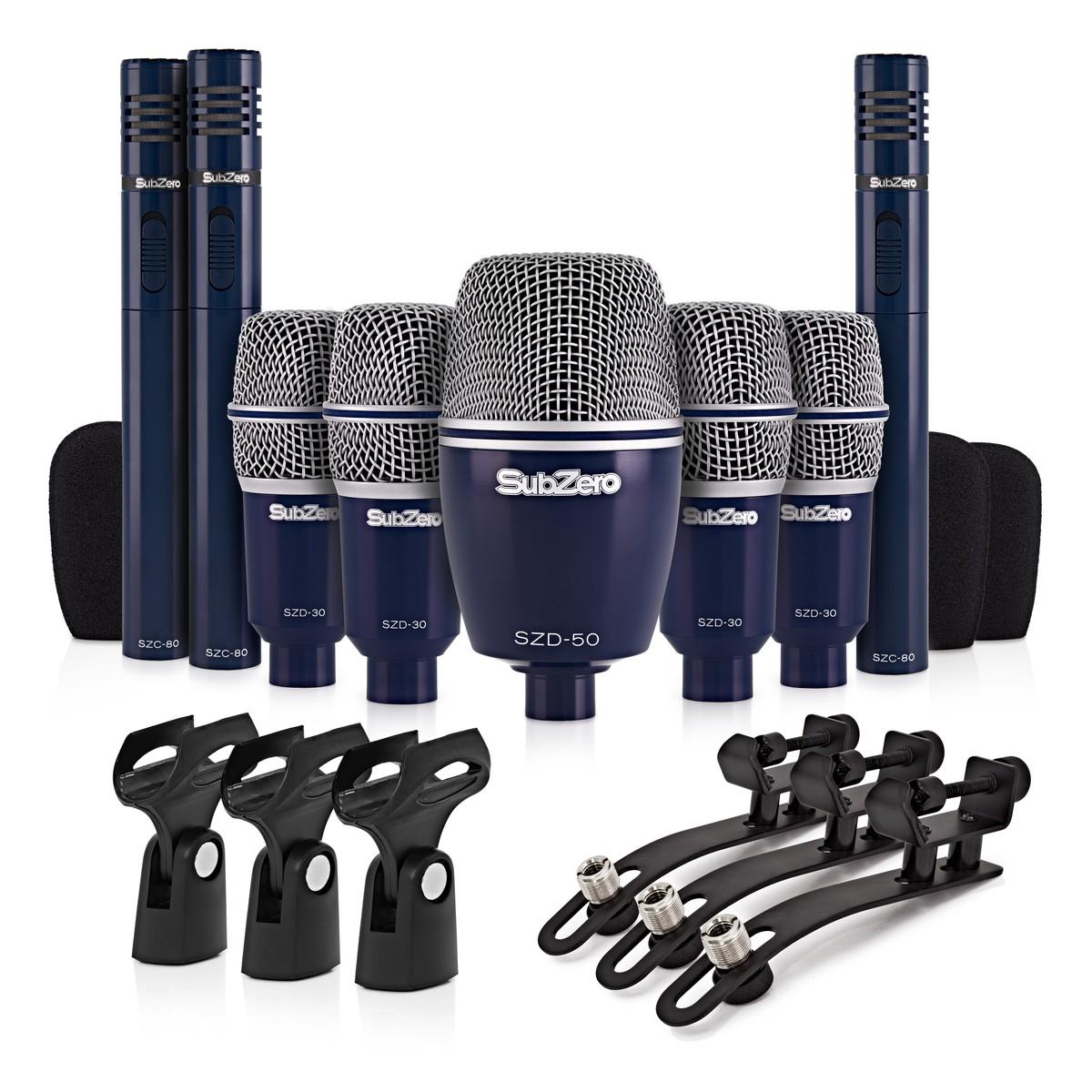 subzero szd 8000 drum mic set 8 piece at gear4music. Black Bedroom Furniture Sets. Home Design Ideas