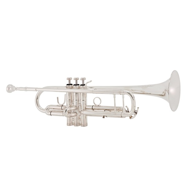 "B&S Challenger II Professional Trumpet, 43"" Bell, Silver"