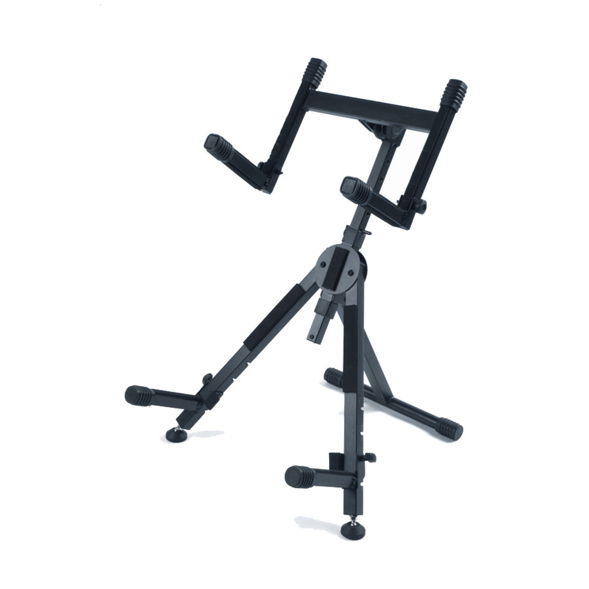 Telescoping Support Arm : Quiklok heavy duty adjustable amp stand with dual support