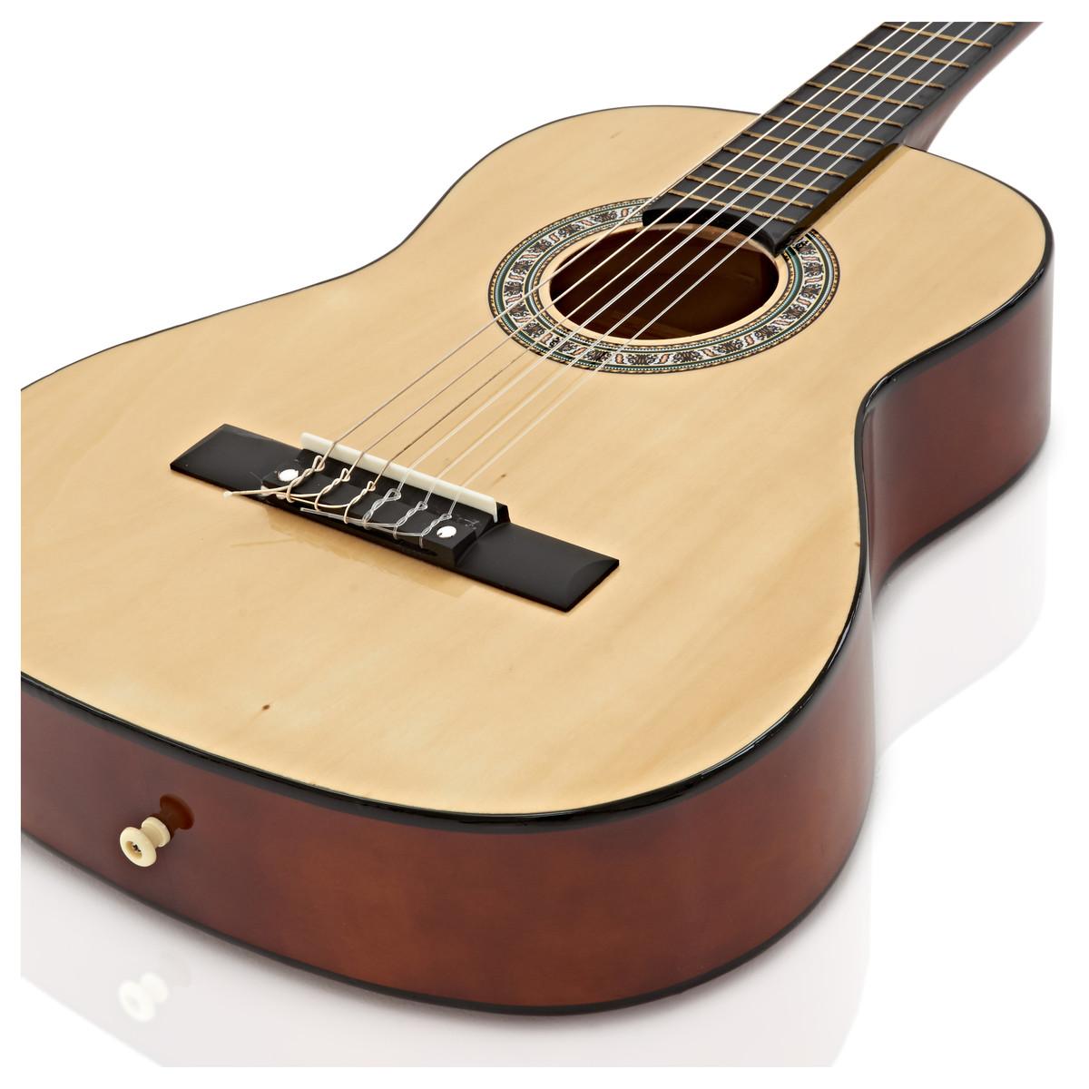 guitare classique 3 4 natural de gear4music b stock. Black Bedroom Furniture Sets. Home Design Ideas