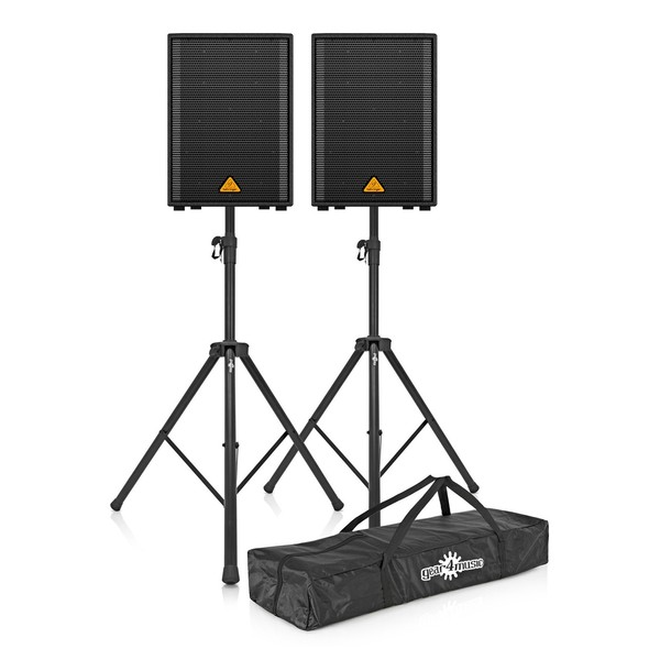 Behringer Eurolive VP1220 12'' Passive PA Speaker with Stands, Pair