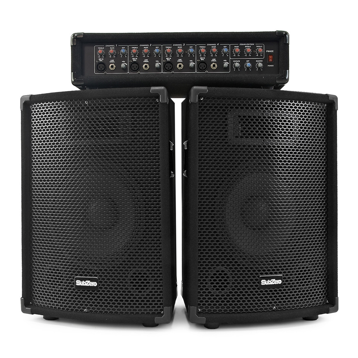 subzero 150w pa system with fx mixer and speakers b stock at gear4music. Black Bedroom Furniture Sets. Home Design Ideas