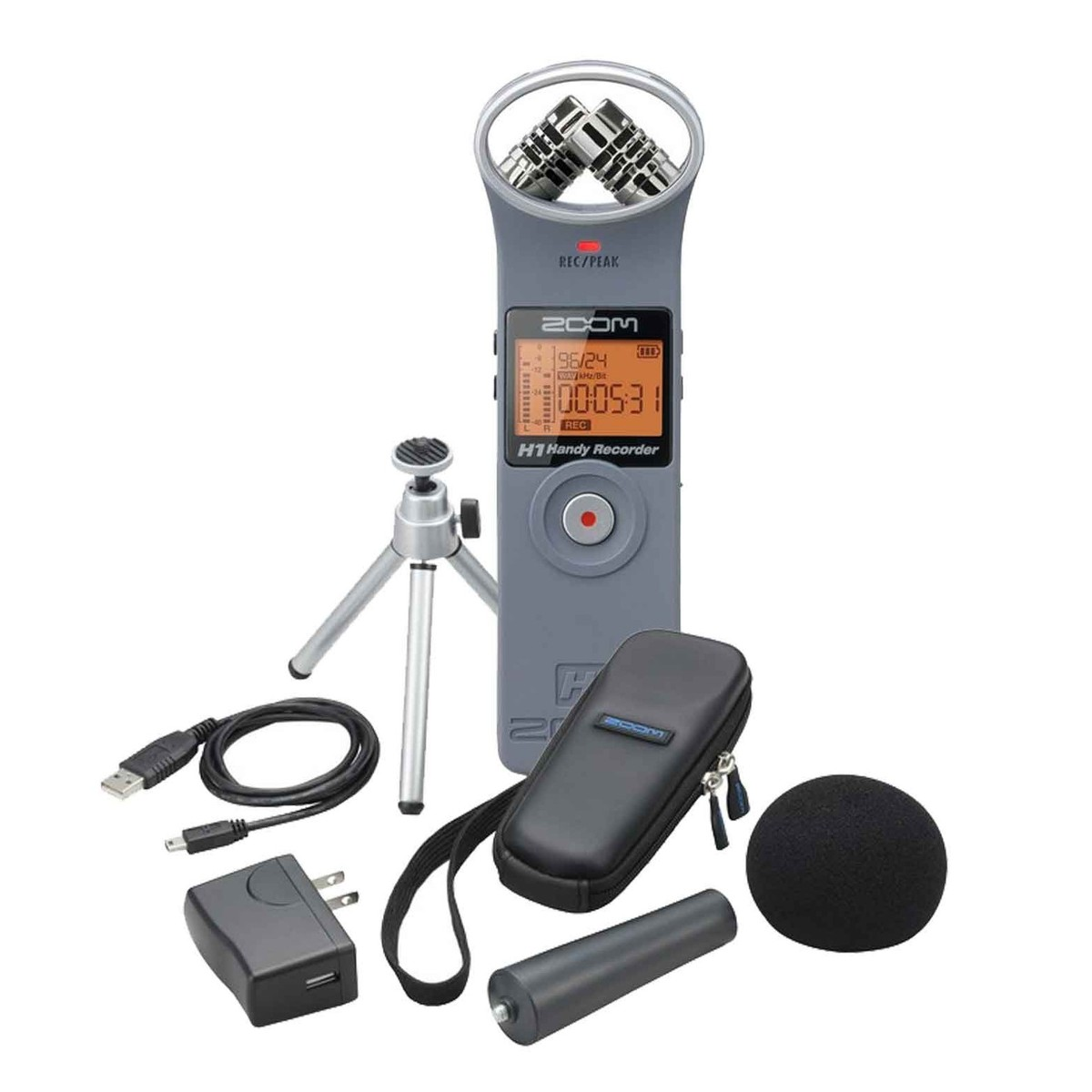 Zoom H1 With Accessory Pack Matte Grey At Gear4music Aph 1 Package For
