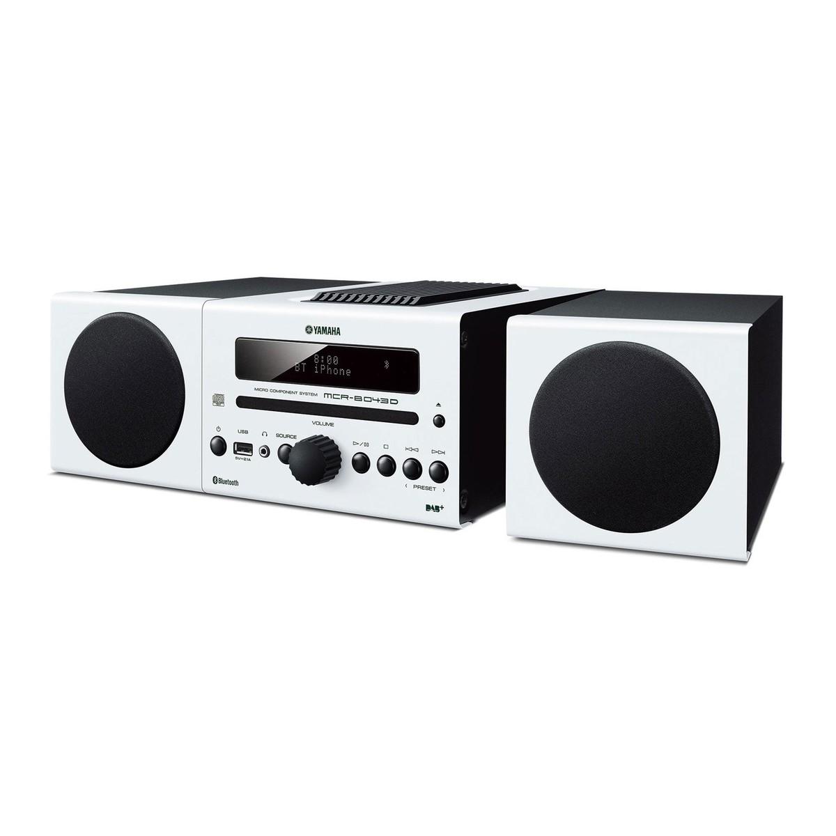 yamaha mcrb043dwhuk mini stereoanlage mit bluetooth. Black Bedroom Furniture Sets. Home Design Ideas