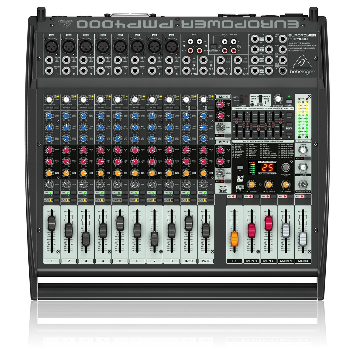 Behringer pmp4000 europower table de mixage gear4music - Table de mixage behringer ...