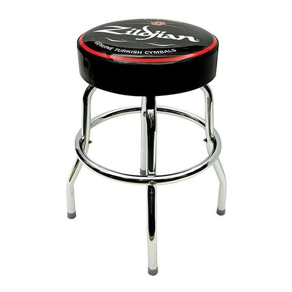 """Zildjian 30"""" Bar Stool, Black With White Logo"""