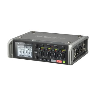 Zoom F4 MultiTrack Field Recorder with Protective Case - Recorder Angled 2