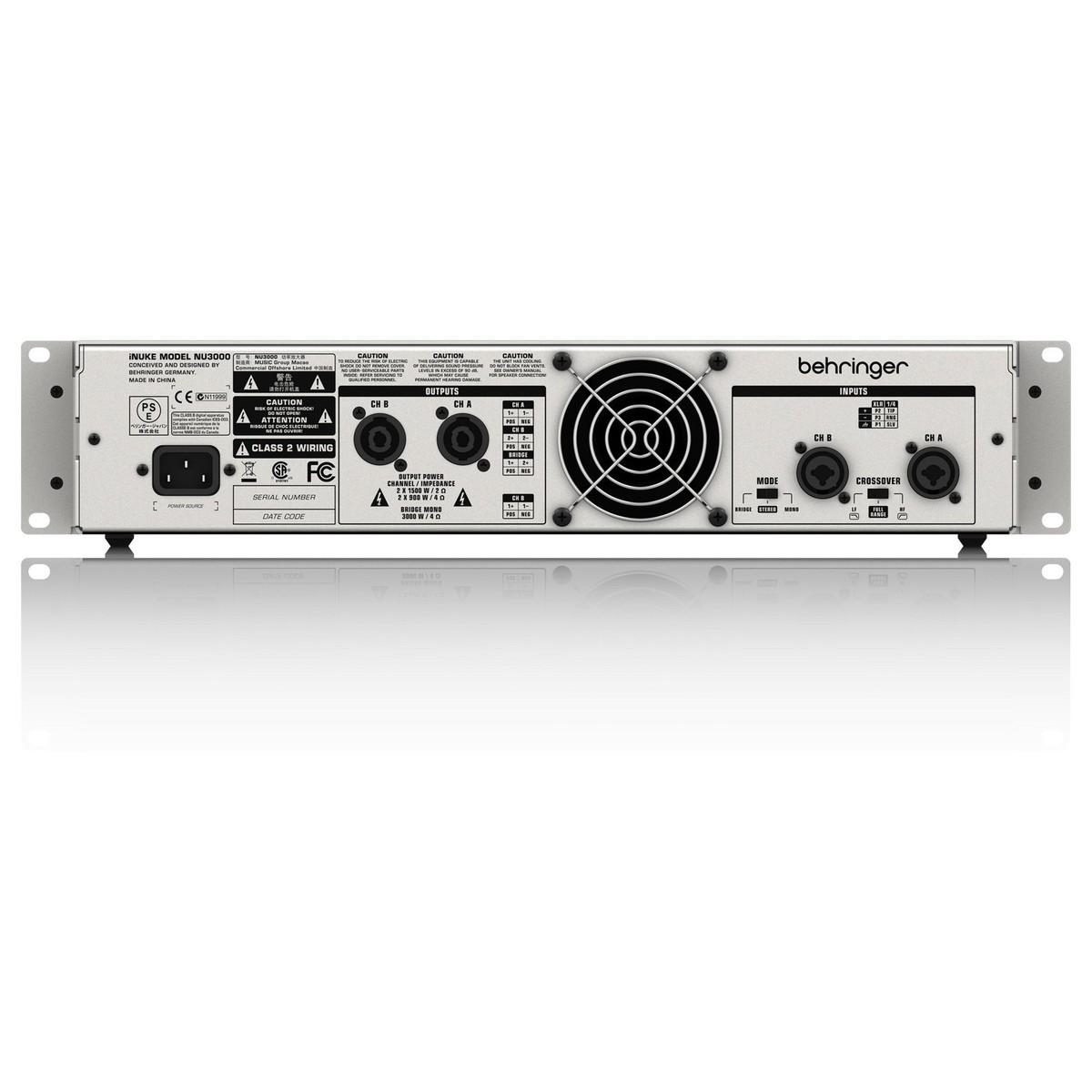 Behringer Inuke Nu3000 Power Amp At Gear4music Bridged Wiring An
