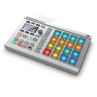Native Instruments Maschine Mikro MK2, White - Angled 2