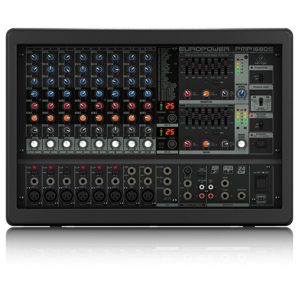 Behringer PMP1680S Europower - control overview