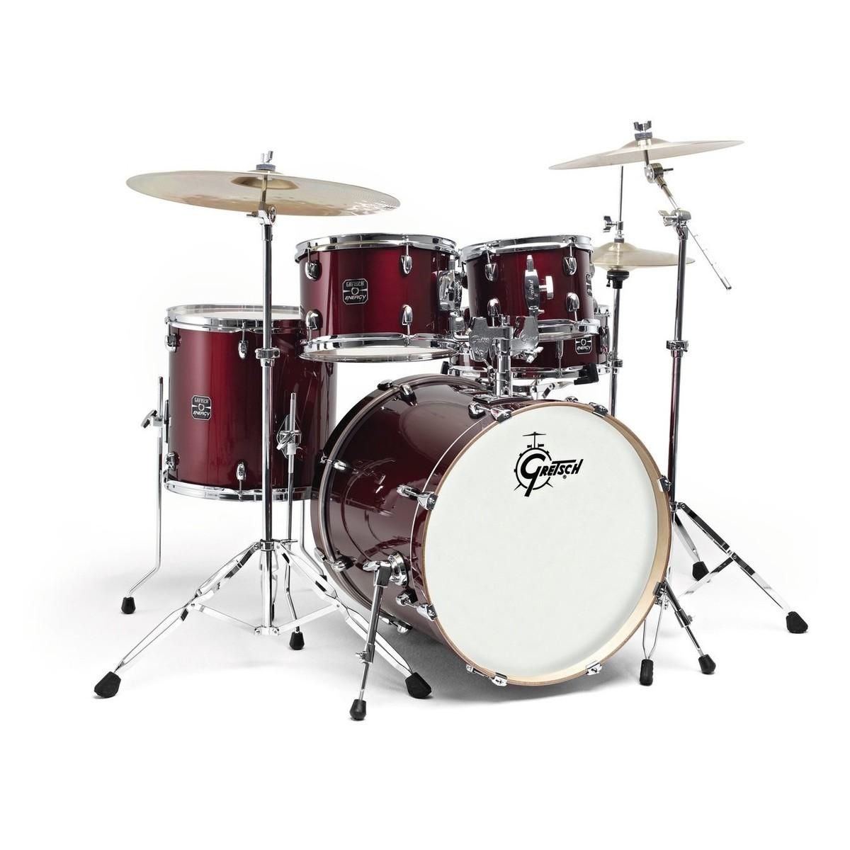 Gretsch Energy 20 Drum Kit W Hardware Paiste 101 Set Wine Red