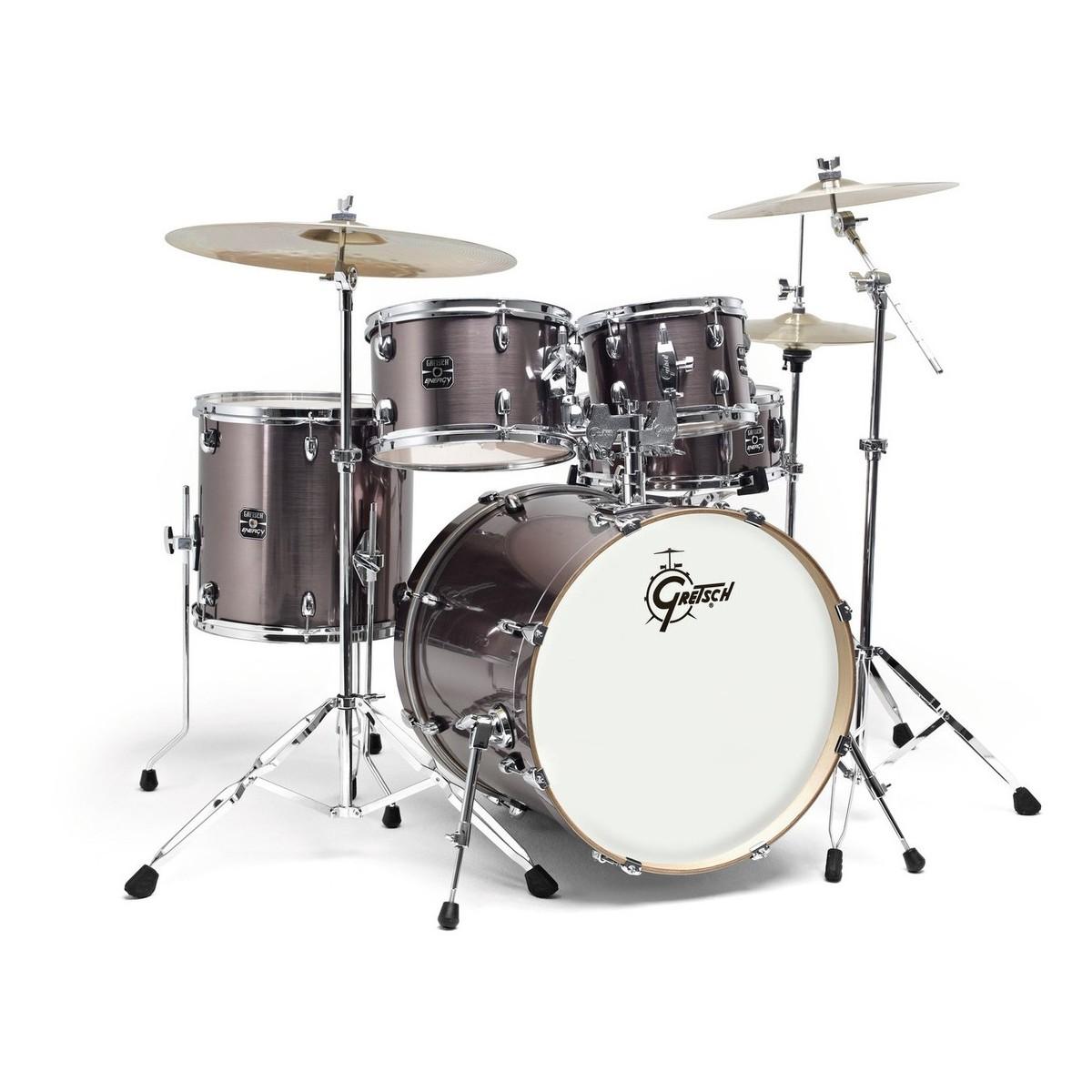 gretsch energy 20 drum kit w hardware paiste 101 set grey steel at gear4music. Black Bedroom Furniture Sets. Home Design Ideas