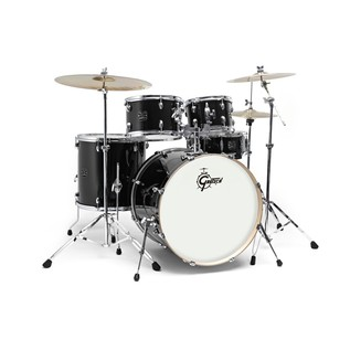 "Gretsch Energy 22"" Drum Kit w/ Hardware & Paiste 101 Set, Black"