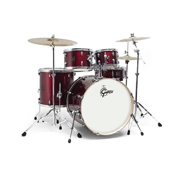 gretsch energy 22 drum kit w hardware paiste 101 set wine red at gear4music. Black Bedroom Furniture Sets. Home Design Ideas
