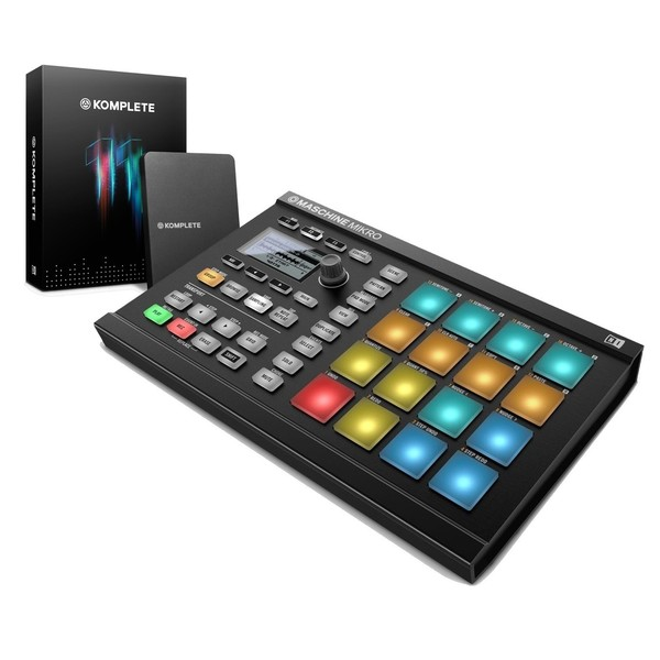 Native Instruments Maschine Mikro MK2 with Komplete 11, Black - Bundle